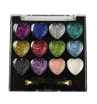 Heart Shaped Glitter Eye Shadow Kit - Style No 2505H