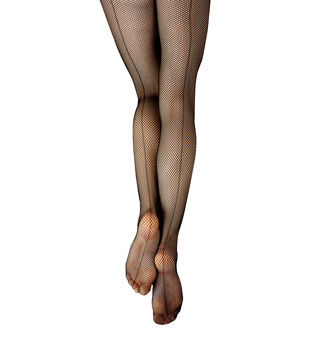 Child Studio Basics Back Seam Fishnet Tights - Style No 3408C