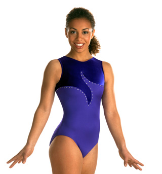 Child Purple Tank with Jewels Leotard - Style No 3487C
