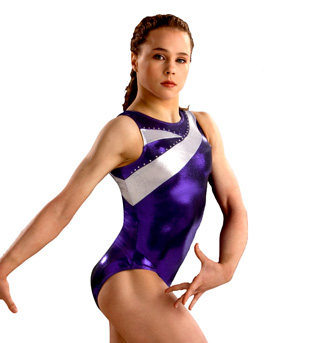 Child Purple and Silver Leotard - Style No 3574C