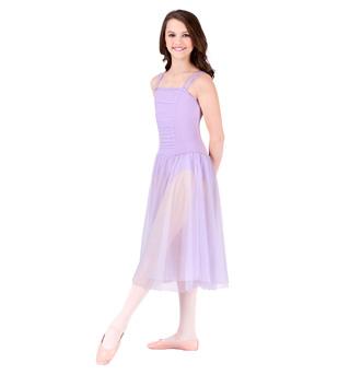 Child Drop Waist Chiffon Dress - Style No 3889