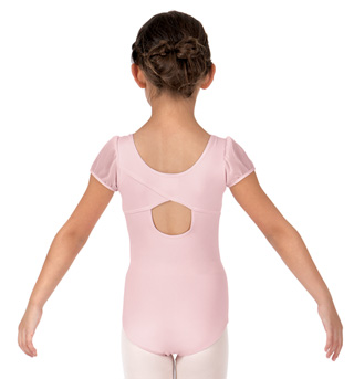 Girls Mesh Short Sleeve Leotard - Style No 3946C