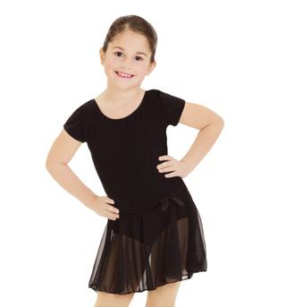 Child Short Sleeve Nylon Dress  - Style No 3966C