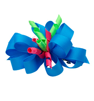 Neon Ribbon Hair Bow - Style No 4085
