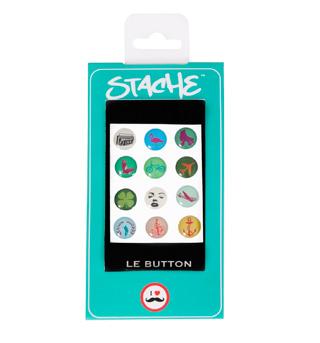 Stache LE BUTTON Popicons - Style No 61105