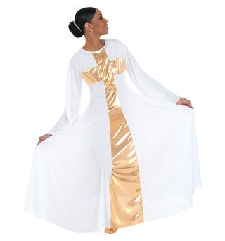 Women's Worship Long Cross Dress - Style No 620
