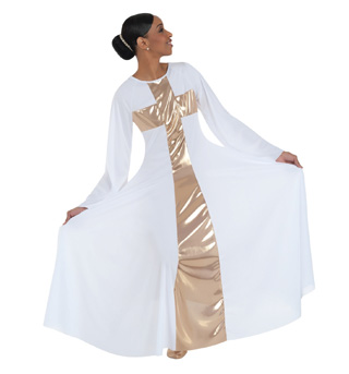 Plus Size Worship Long Cross Dress - Style No 620XX