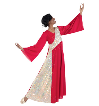 Plus Size Bell Sleeve Worship Dress - Style No 630XX