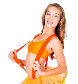 Neon Orange Suspenders - Style No 67779x