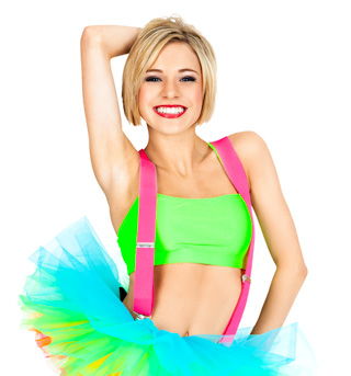 Neon Pink Suspenders - Style No 67782