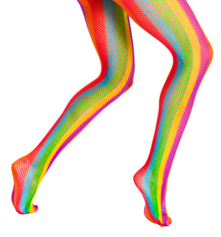 Adult Rainbow Fishnet Tights - Style No 68054