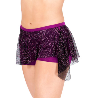 Dance Shorts with Glitter Overlay Skirt - Style No 7522x