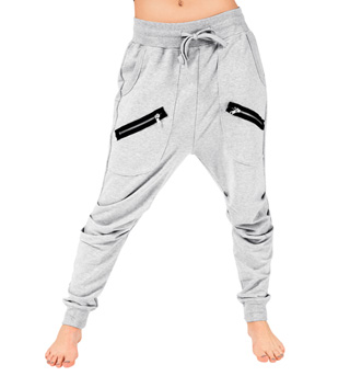 Adult Unisex Multi Zipper Harem Pants - Style No 81512