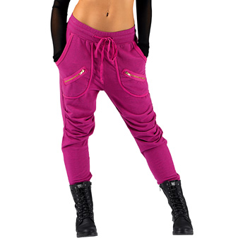 Adult Zipper Pocket Harem Sweat Pants - Style No 81513