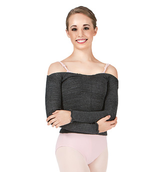 Adult Acrylic Stretch Long Sleeve Ballet Neck Top - Style No AL1143001
