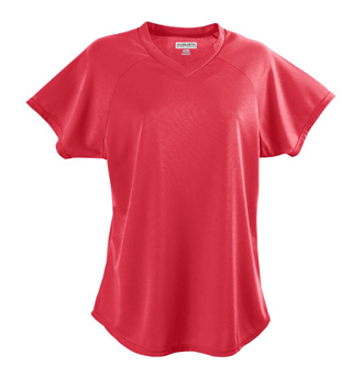 Ladies Plus Size Short Sleeve V-Neck Jersey - Style No AUG571P