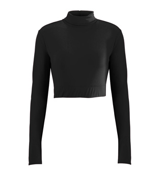 Adult Plus Size Long Sleeve Crop Top - Style No AUG9010P