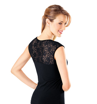 Adult Lace Trim Cap Sleeve Top - Style No B462
