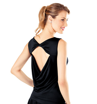 Adult Open Back Draped Tank Top - Style No B472
