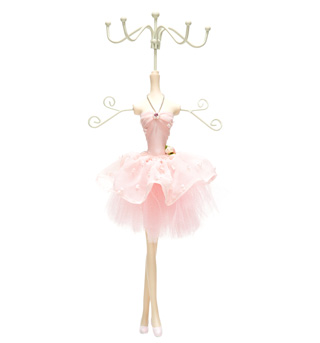 2 Tier Ballerina Jewelry Stand - Style No BHG001