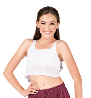 Child Oversized Crop Tank Top - Style No C1067C