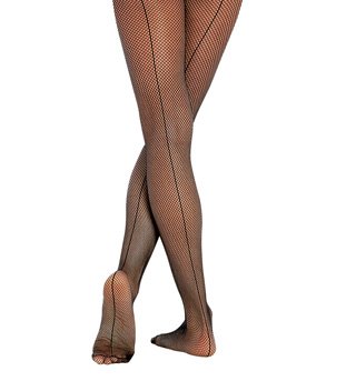 Child totalSTRETCH Fishnet Seamed Tights - Style No C62