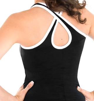 Adult Criss-Cross Back Cheer Top - Style No CB131