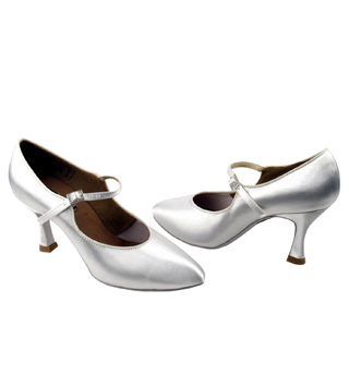 Ladies Flared Heel Standard/Smooth- Competitive Dancer Ballroom Shoes - Style No CD5100M