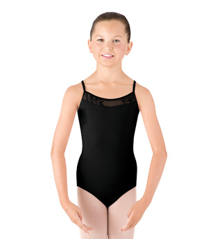 Girls Camisole Swirl Tulle Leotard - Style No CL4097