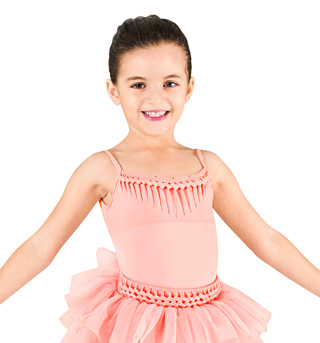 Child Spliced Open Back Camisole Leotard - Style No CL7387