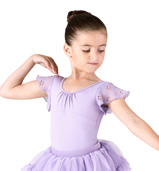 Girls Daisy Flutter Sleeve Leotard - Style No CL7390