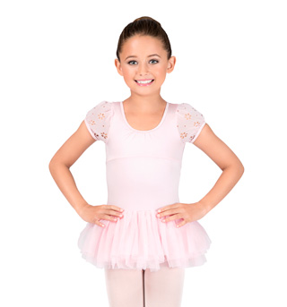 Girls Daisy Puff Sleeve Tutu Dress - Style No CL8092