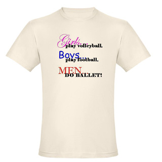 Men Do Ballet Cotton Tee - Style No CP119