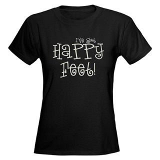 Women Happy Feet V-Neck T-Shirt - Style No CP331