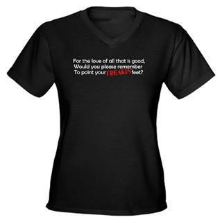 Women Point Your Feet V-Neck T-Shirt - Style No CP404