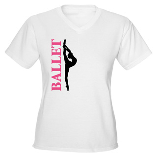 Women Ballet V-Neck T-Shirt - Style No CP732