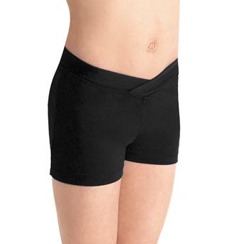 Performance Essentials Girls V-Waist Dance Shorts - Style No CR2704