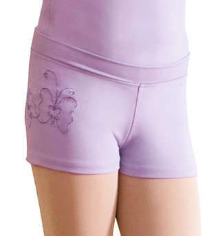 Child Embroidered Short with Butterflies - Style No CR7124