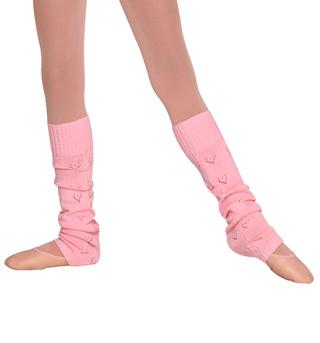 Girls Heart Knit Legwarmers - Style No CW6570
