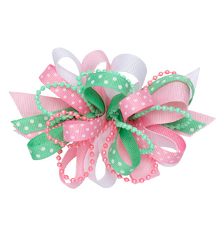 Pastel Ribbon Hair Bow - Style No D4082