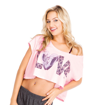 Adult Love Lace Crop Tee - Style No DA281x