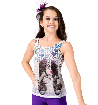 Girls Tap Burnout Tank Top - Style No DA350C
