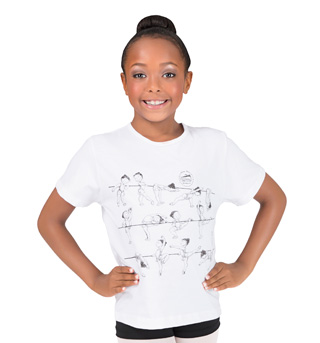 Child At the Barre Girls T-Shirt - Style No DD10055