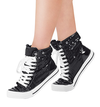 Adult Hi-Top Sequin Fur Sneaker - Style No DESTINY