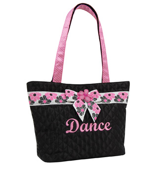 Polka Dot Flower Tote - Style No DSD01