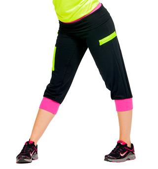 Adult Color Block Zipper Crop Pant - Style No FD0144
