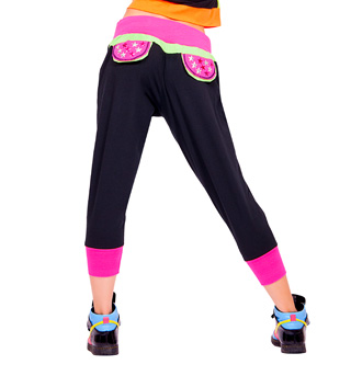 Adult Color Block Crop Pant - Style No FD0146