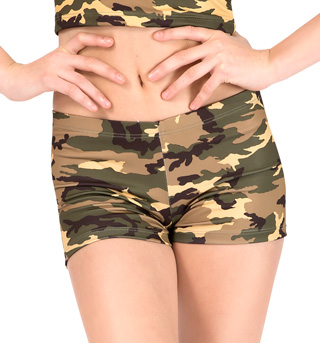 Adult Camouflage Dance Short - Style No FD0161