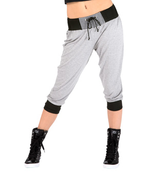 Adult Houndstooth Pocket Crop Pant - Style No FD0168