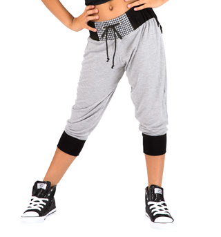 Child Houndstooth Pocket Crop Pant - Style No FD0168C